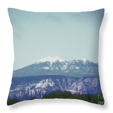Mountain View Throw Pillow by Debbie Wells
