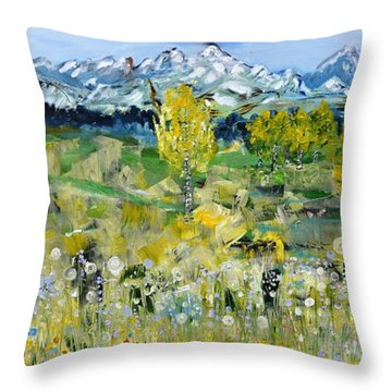 Mountain View Throw Pillow by Evelina Popilian