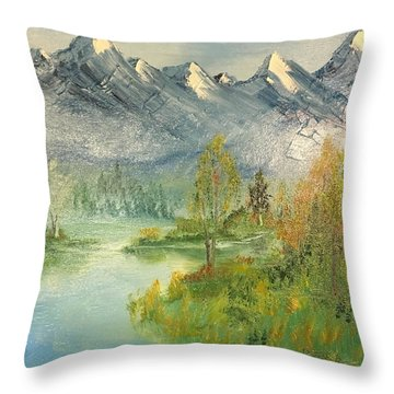 Mountain View Glen Throw Pillow