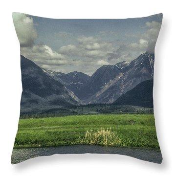 Mountain View Montana.... Throw Pillow
