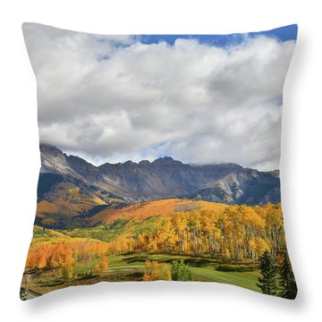 Mountain Village Telluride Throw Pillow