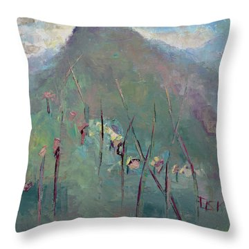 Mountain Visit Throw Pillow