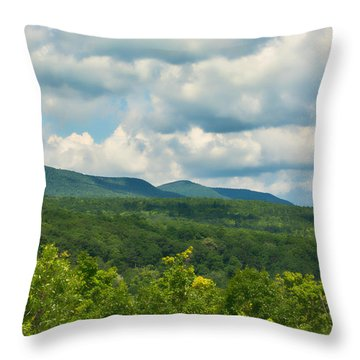 Mountain Vista In Summer Throw Pillow