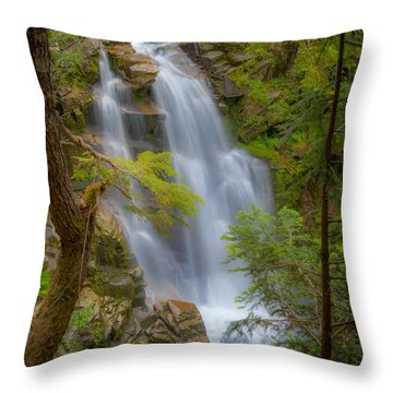 Mountain Waterfall 5613 Throw Pillow by Chris McKenna
