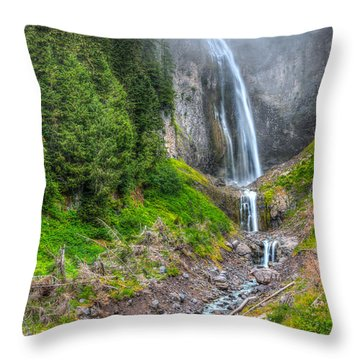 Mountain Waterfalls 5808 Throw Pillow