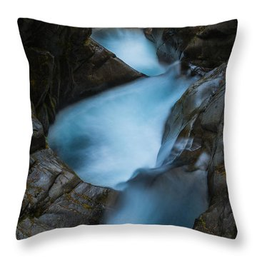 Mountain Waterfalls 5863 Throw Pillow by Chris McKenna