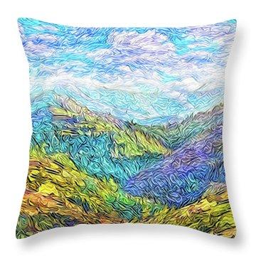 Mountain Waves - Boulder Colorado Vista Throw Pillow by Joel Bruce Wallach
