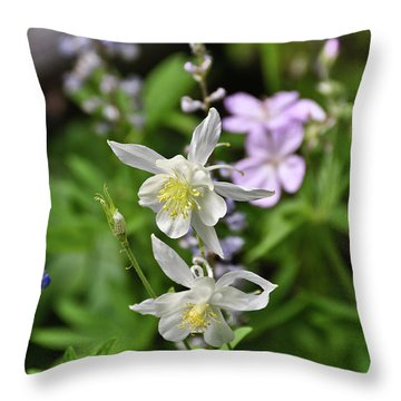 Throw Pillow featuring the photograph Mountain Wildflowers by Greg Norrell