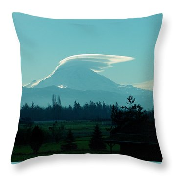 Mountain Wings Throw Pillow