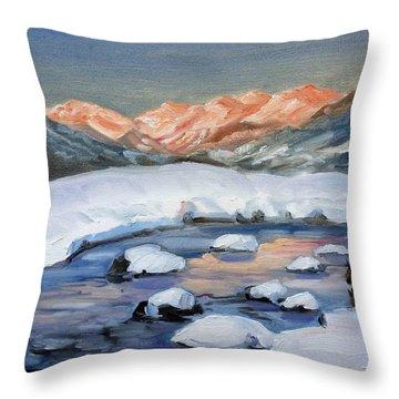 Mountain Winter Landscape 1 Throw Pillow