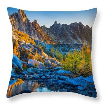 Mountainous Paradise Throw Pillow by Inge Johnsson