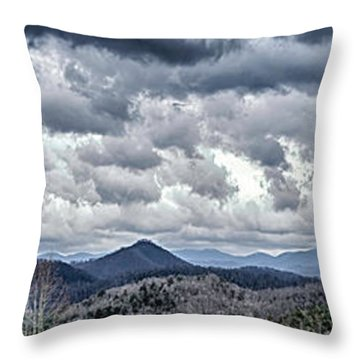 Throw Pillow featuring the photograph Mountains 1 by Walt Foegelle