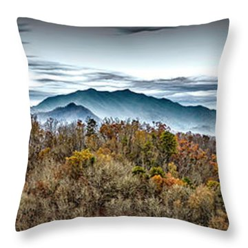 Throw Pillow featuring the photograph Mountains 2 by Walt Foegelle