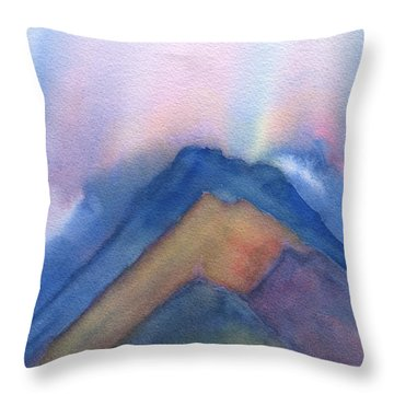 Mountains Abstract Throw Pillow by Frank Bright