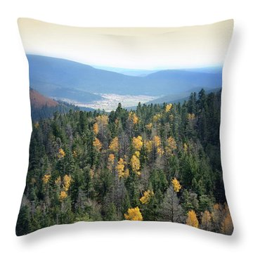 Mountains And Valley Throw Pillow by Jill Battaglia