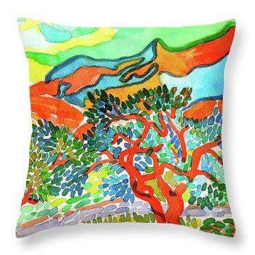 Mountains At Collioure Throw Pillow