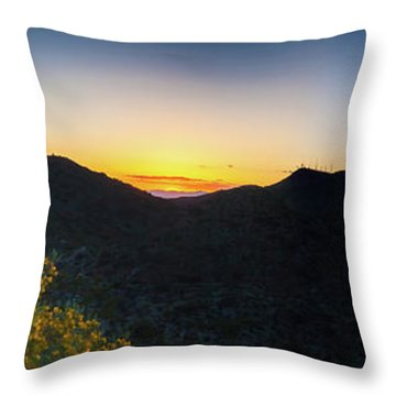 Mountains At Sunset Throw Pillow by Ed Cilley