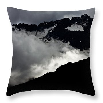 Mountains Clouds 9950 Throw Pillow by Marco Missiaja