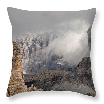 Mountains Depth 1150 Throw Pillow