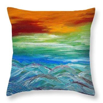 Mountains. Fantasy Throw Pillow