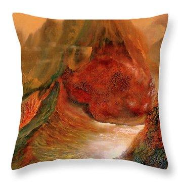 Mountains Fire Throw Pillow
