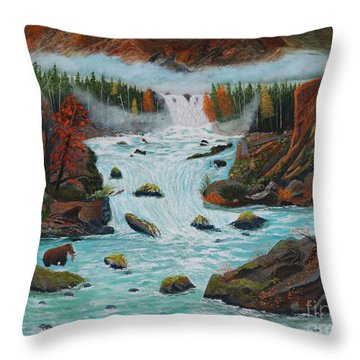 Mountains High Throw Pillow