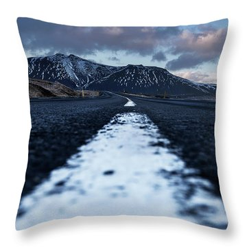Throw Pillow featuring the photograph Mountains In Iceland by Pradeep Raja Prints