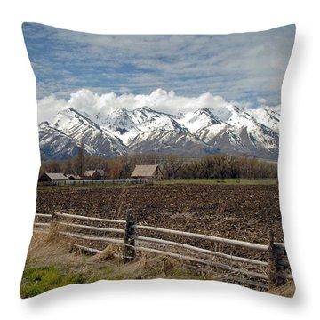 Mountains In Logan Utah Throw Pillow