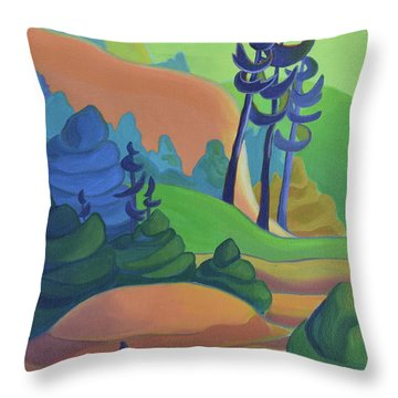 Hills In Spring Throw Pillow