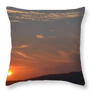 Mountains In The Sunset Throw Pillow