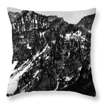 Mountains Throw Pillow by Juls Adams