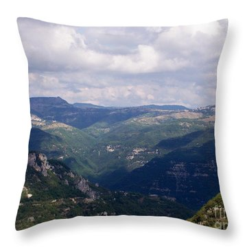 Mountains Of Central Italy Throw Pillow