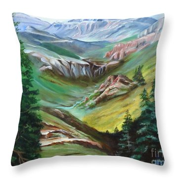 Mountains Of Color Throw Pillow