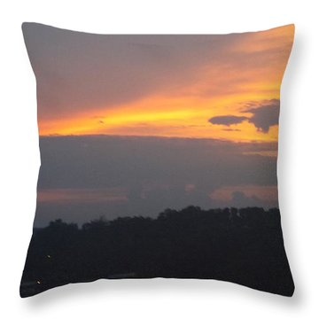 Mountains Of Gold  Throw Pillow
