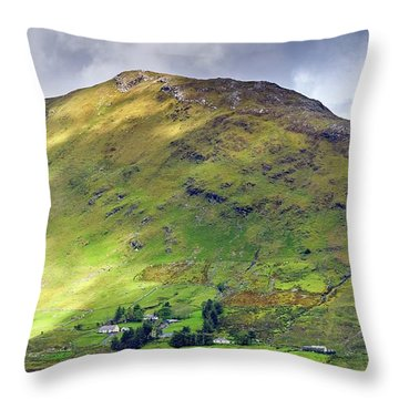 Mountains Of Ireland Throw Pillow