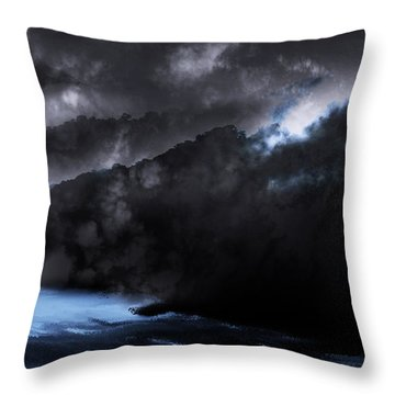 Throw Pillow featuring the photograph Mountains Of The Blue Ridge by Gray  Artus