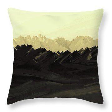 Mountains Of The Mohave Throw Pillow