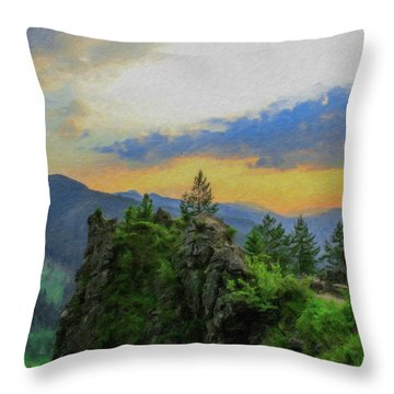 Mountains Tatry National Park - Pol1003778 Throw Pillow