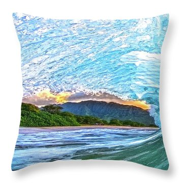 Mountains To The Sea Throw Pillow by James Roemmling