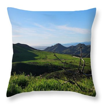 Throw Pillow featuring the photograph Mountains To Valley View by Matt Harang