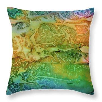 Mountains, Trees, Icy Seas Throw Pillow