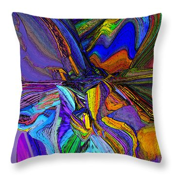 Mountainscape  Throw Pillow