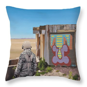 Mountaintop T Throw Pillow by Scott Listfield
