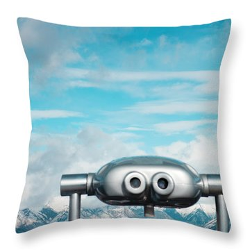 Throw Pillow featuring the photograph Mountaintop View by Kim Fearheiley