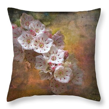 Mountain Laurel Throw Pillow by Bellesouth Studio