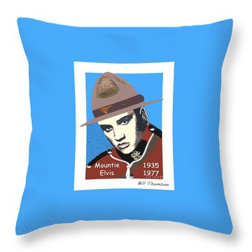 Mountie Elvis Throw Pillow
