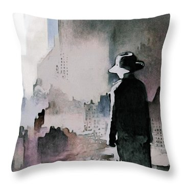 Throw Pillow featuring the painting Mourning The American Dream by Susan Maxwell Schmidt