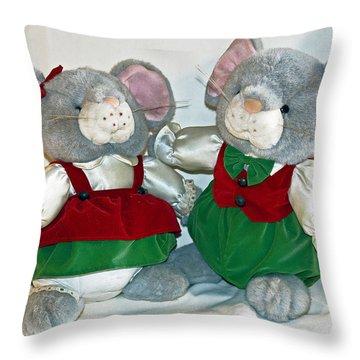Mouse Love Throw Pillow by Allan  Hughes