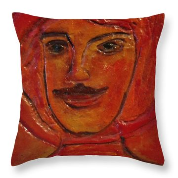Moustached Prince Throw Pillow