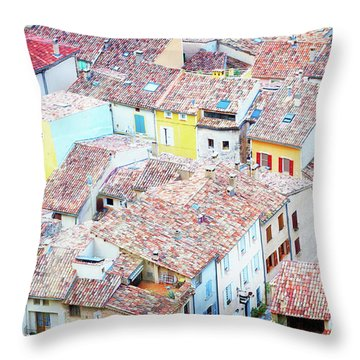 Moustiers Sainte Marie Roofs Throw Pillow